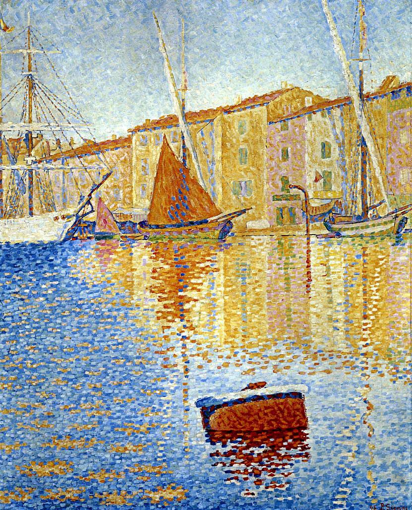 Художник Поль Синьяк Paul Signac картина Red Buoy Сен Тропе Orsay пейзажи природы Альберт Сафиуллин