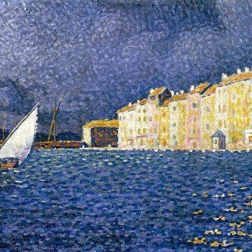 художник Поль Синьяк Paul Signac Шторм 1895 Saint Tropez Musee de l'Annonciade