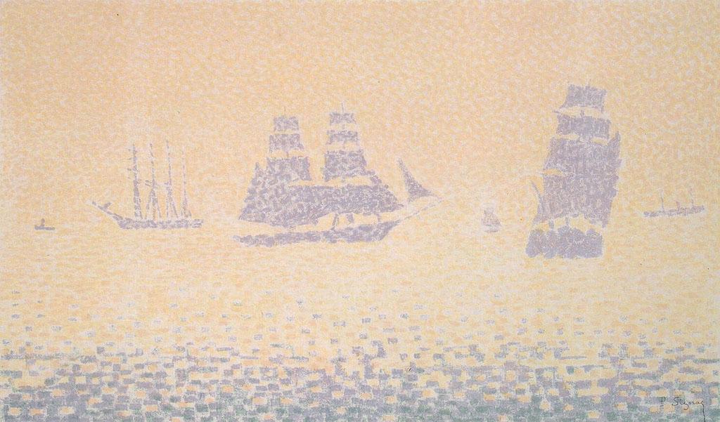 Художник Поль Синьяк Signac картина Sailing Ships пейзажи природы Альберт Сафиуллин
