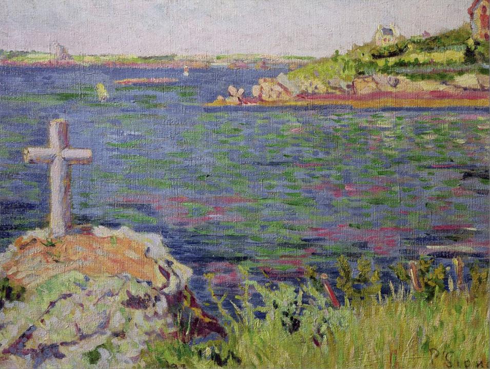 Художник Поль Синьяк Paul Signac картина Saint-Briac Sailors's Cross пейзажи природы Альберт Сафиуллин