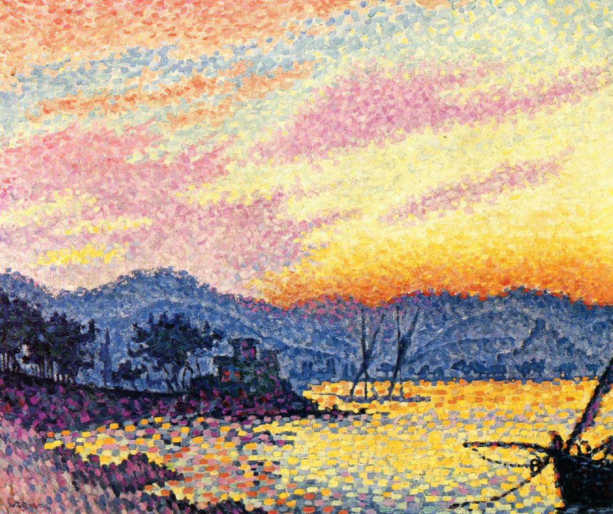 художник Поль Синьяк Paul Signac картина Сен Тропе Pointe de Bertaud пейзажи природы Альберт Сафиуллин