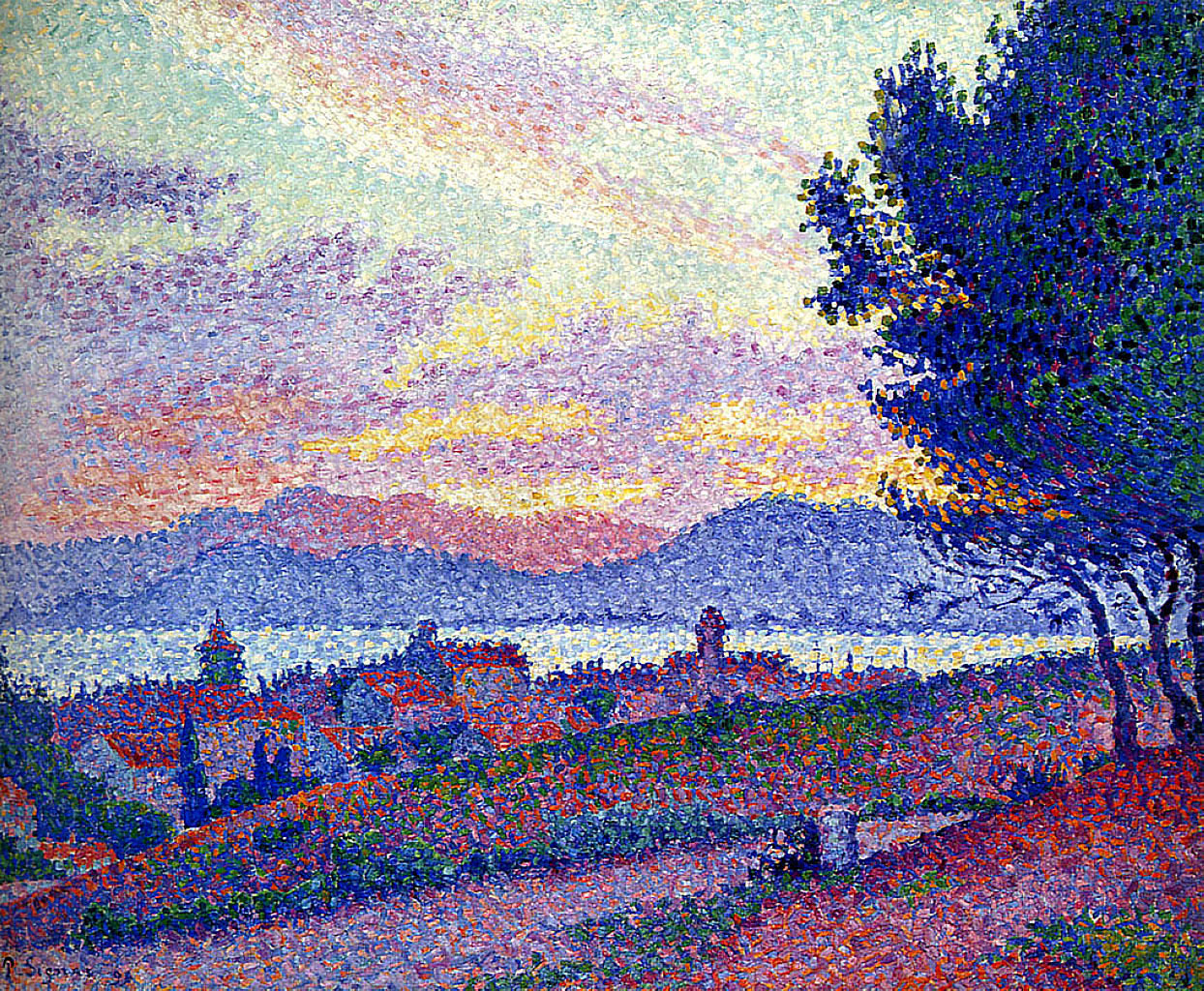 художник Поль Синьяк Signac картины Сен Тропе закат пейзажи природы Альберт Сафиуллин