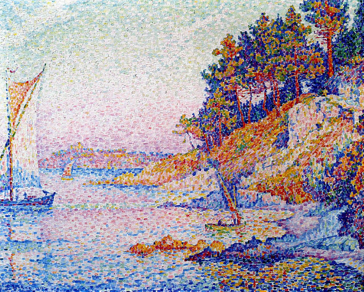 художник Поль Синьяк Signac картины Saint Tropez Calanque пейзажи природы Альберт Сафиуллин