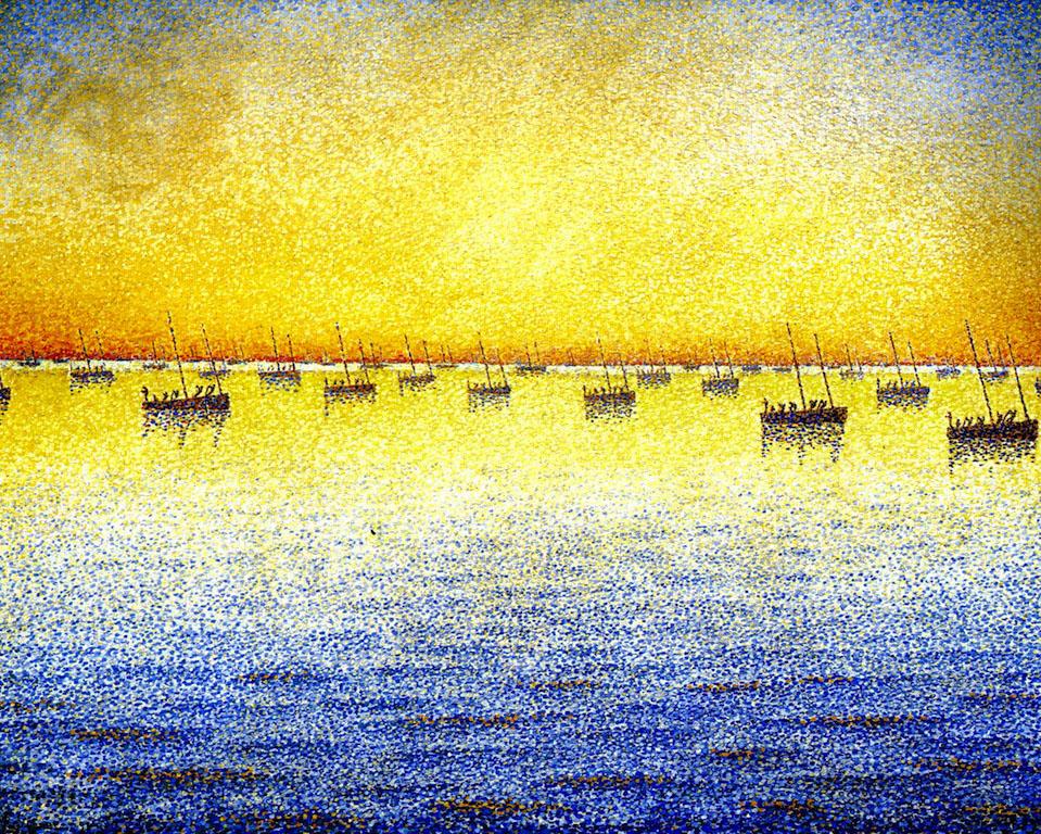 Художник Поль Синьяк Paul Signac художник Sardine Fishing пейзажи природы Альберт Сафиуллин