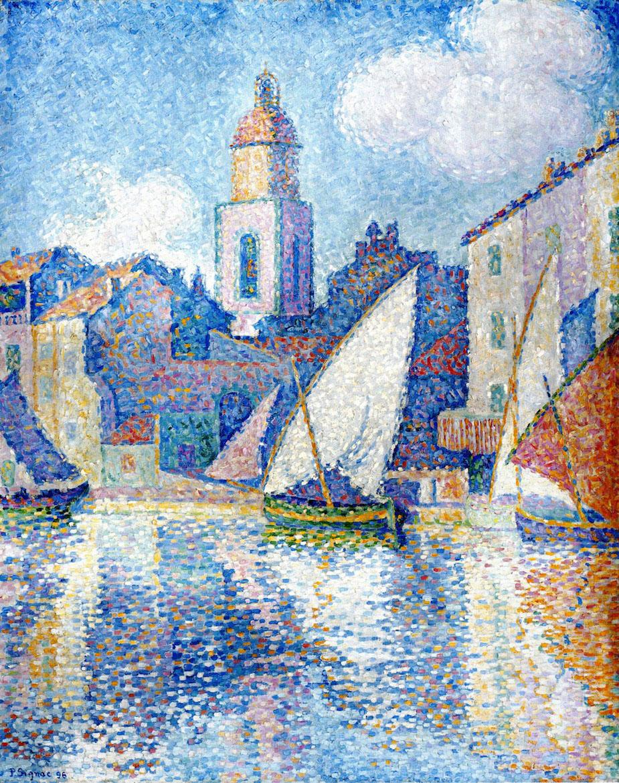 художник Поль Синьяк Paul Signac Steeple Saint Tropez пейзажи природы Альберт Сафиуллин
