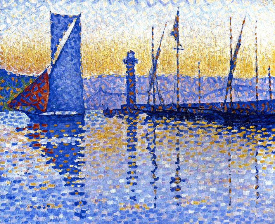художник Поль Синьяк Paul Signac картина Lighthouse Сен Тропе пейзажи природы Альберт Сафиуллин