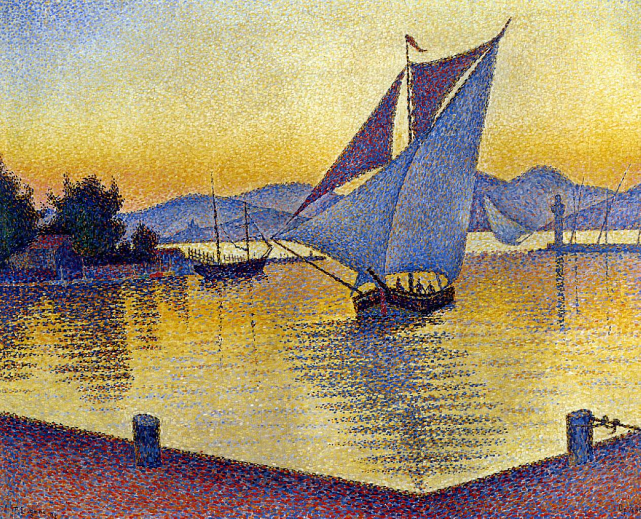 художник Поль Синьяк Paul Signac картина порт Сен Тропе пейзажи природы Альберт Сафиуллин