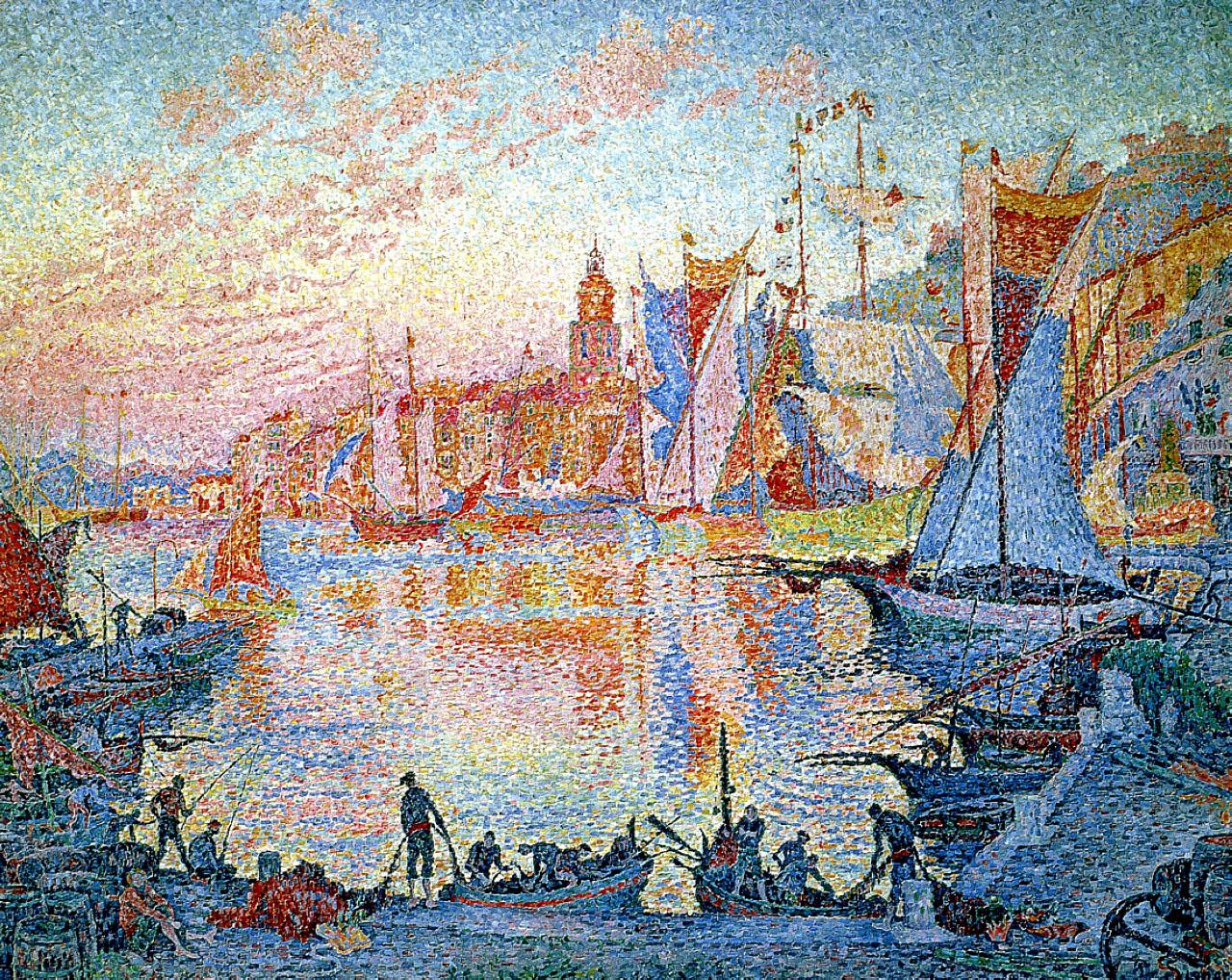 художник Поль Синьяк Paul Signac Port Saint Tropez пейзажи природы Альберт Сафиуллин