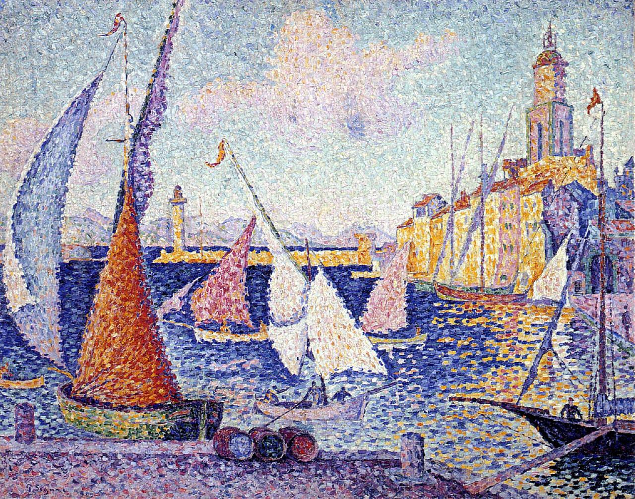художник Поль Синьяк Paul Signac картина Quay Сен Тропе пейзажи природы Альберт Сафиуллин