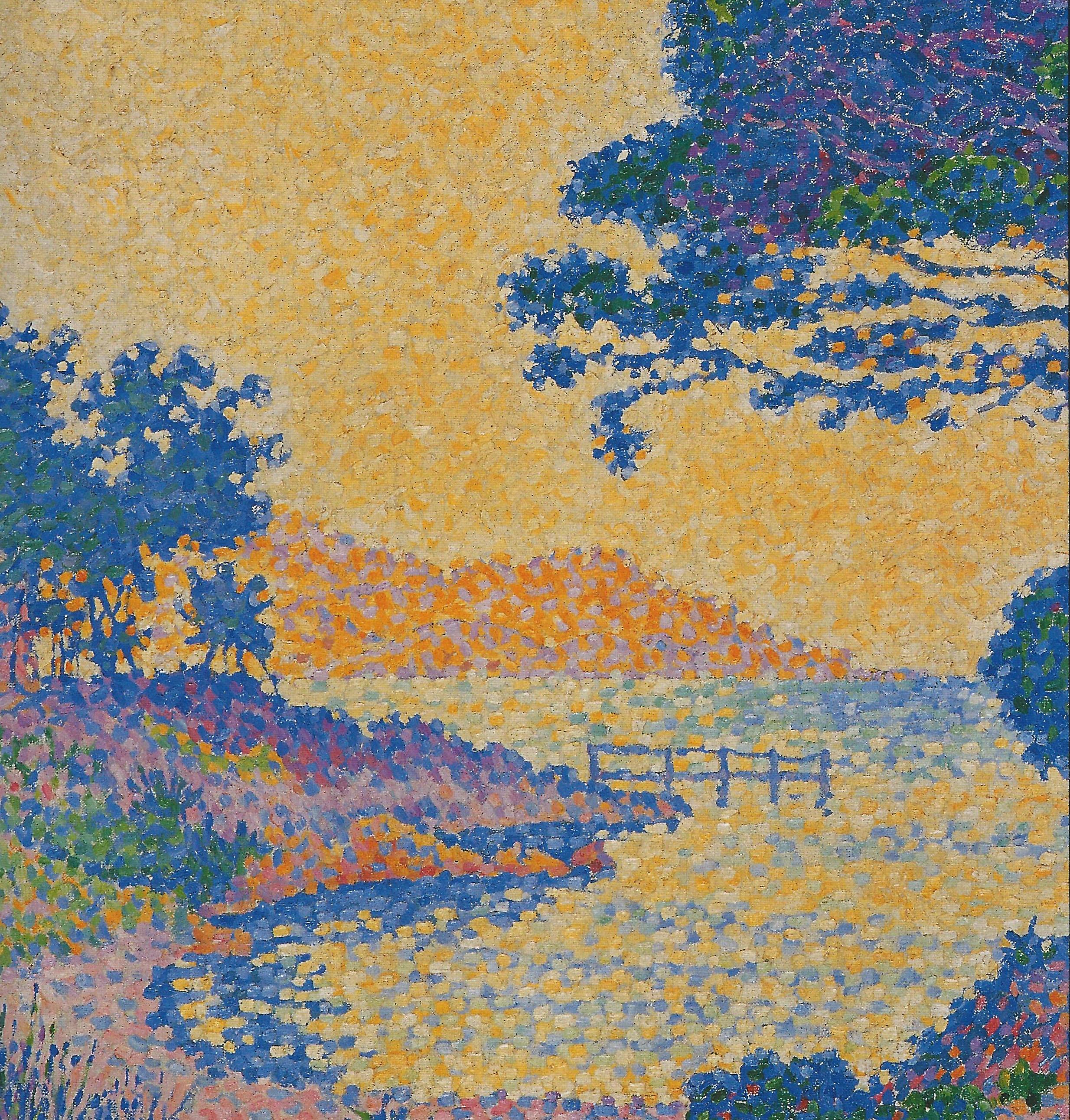 Поль Синьяк - Saint Tropez, The Parasol Pines at les Canoubiers, 1897 фрагмент