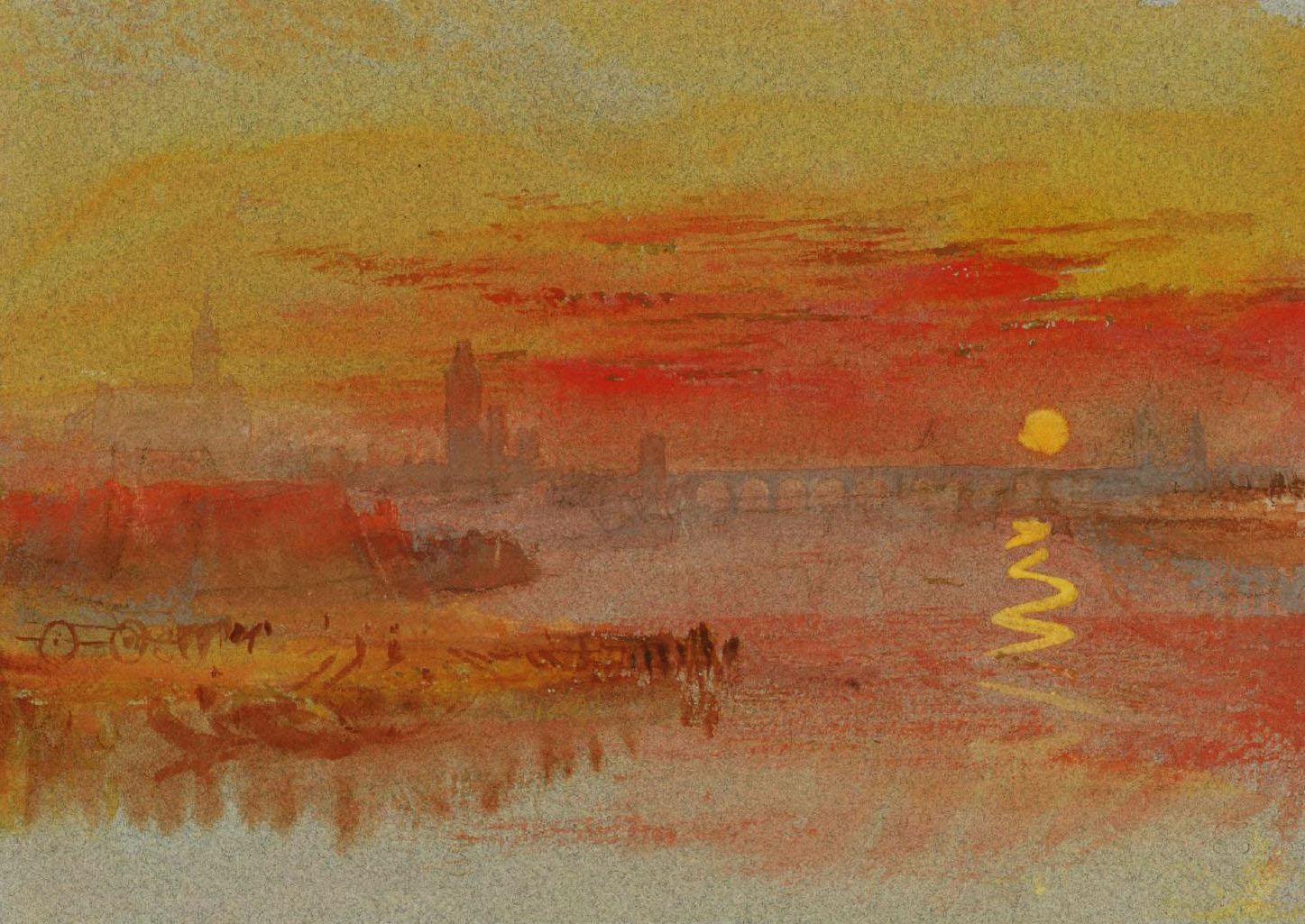 Пейзажи природы картины Уильям Тернер Заход солнца акварель Альберт Сафиуллин