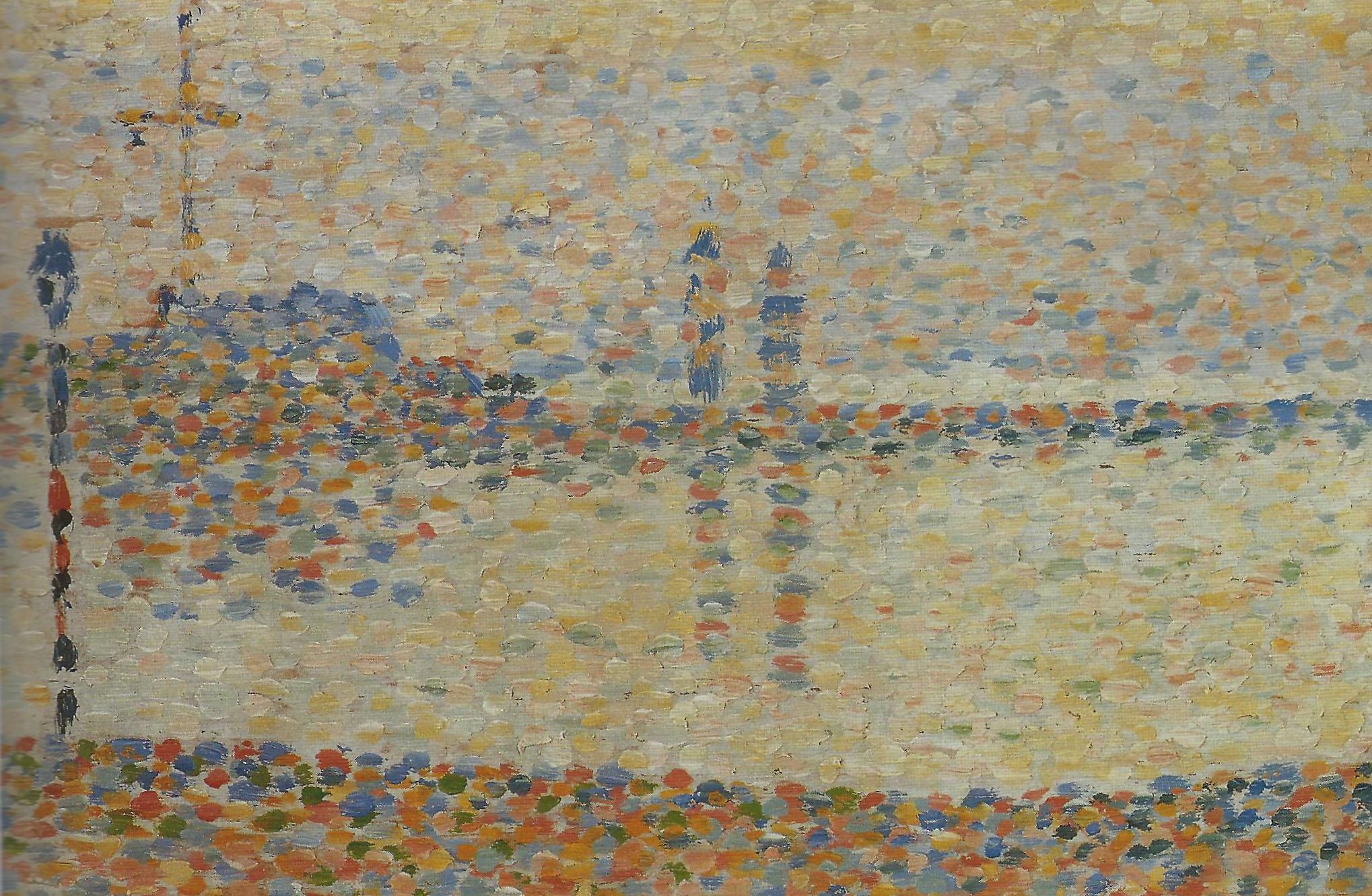 Пейзажи природы картины Жорж Сера Channel at Gravelines море Альберт Сафиуллин