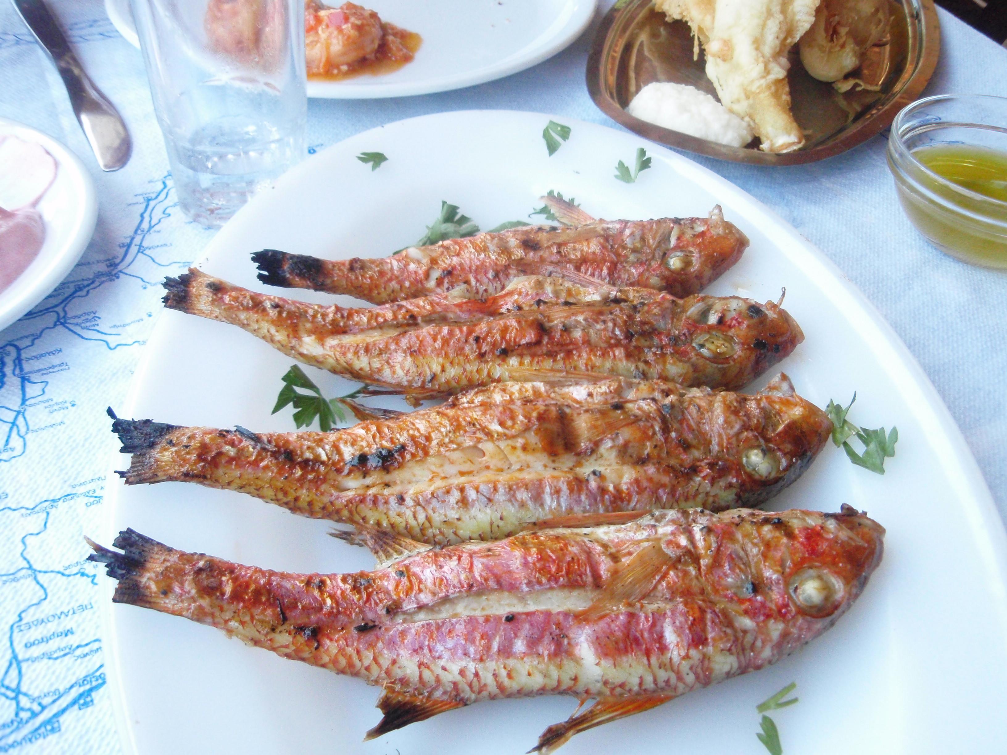 Рыба Барабулька на гриле Родос Греция пейзажи природы Альберт Сафиуллин