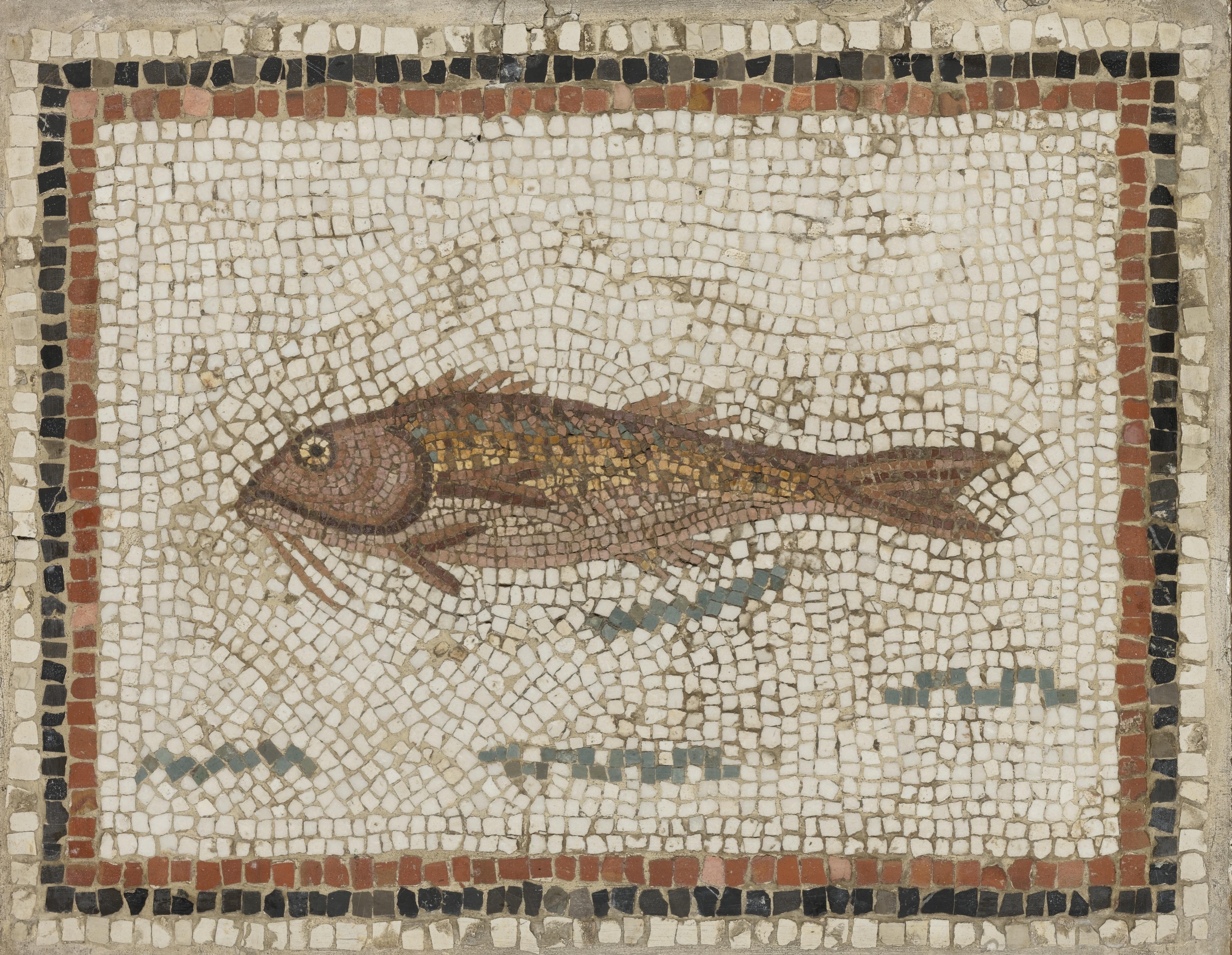 Рыба Барабулька римская мозаика пейзажи природы Альберт Сафиуллин