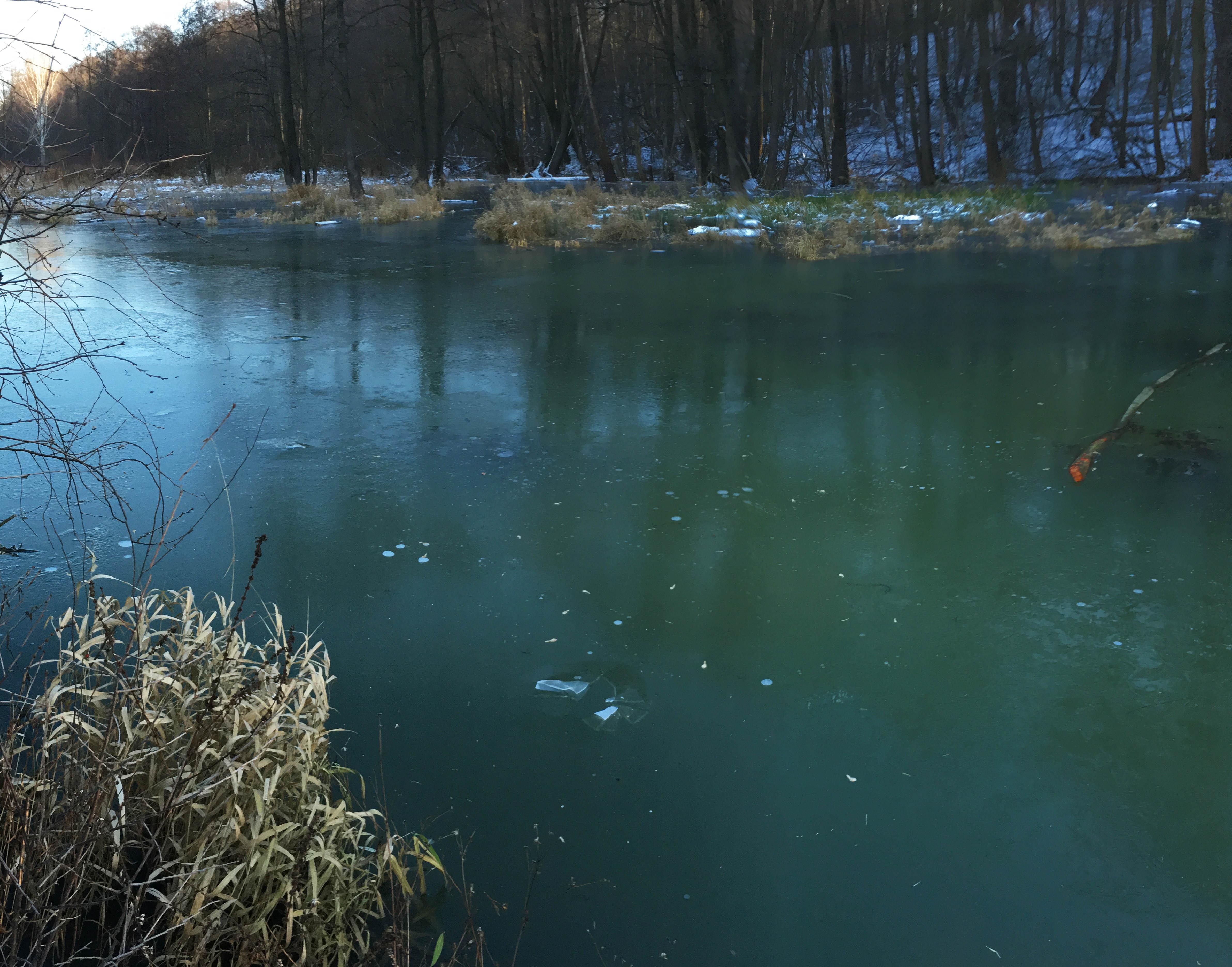 Первый лед на реке пейзажи природы Альберт Сафиуллин