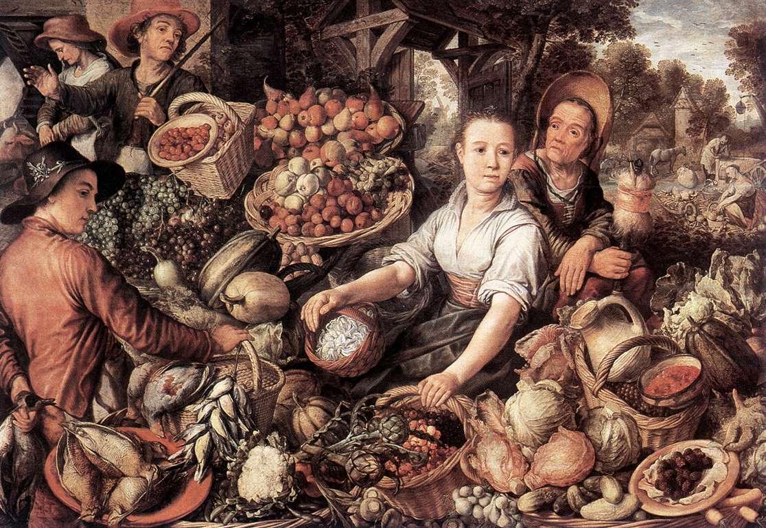Художник Joachim Beuckelaer картина Овощной рынок краски природы Альберт Сафиуллин