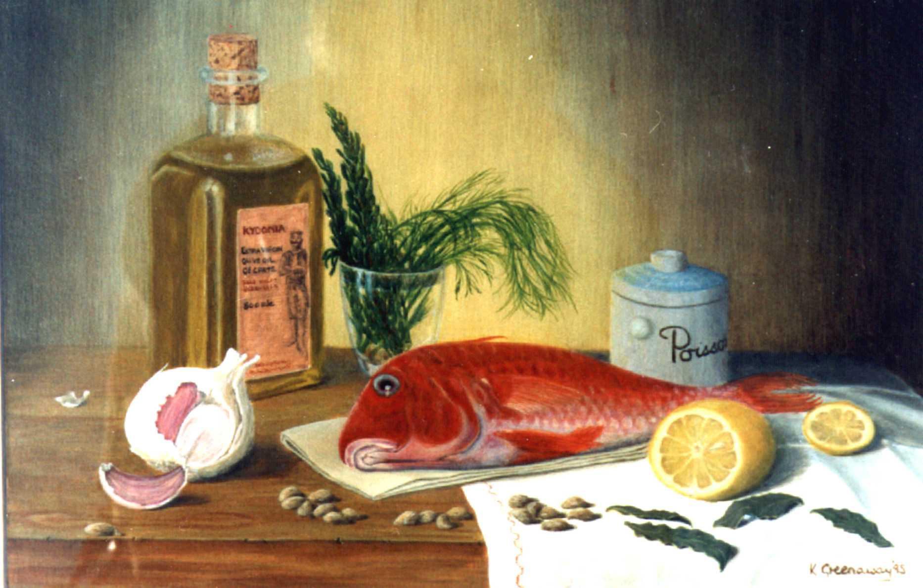 Художник Kate Greenaway картина Барабулька Red Mullet and Herbs пейзажи природы Альберт Сафиуллин