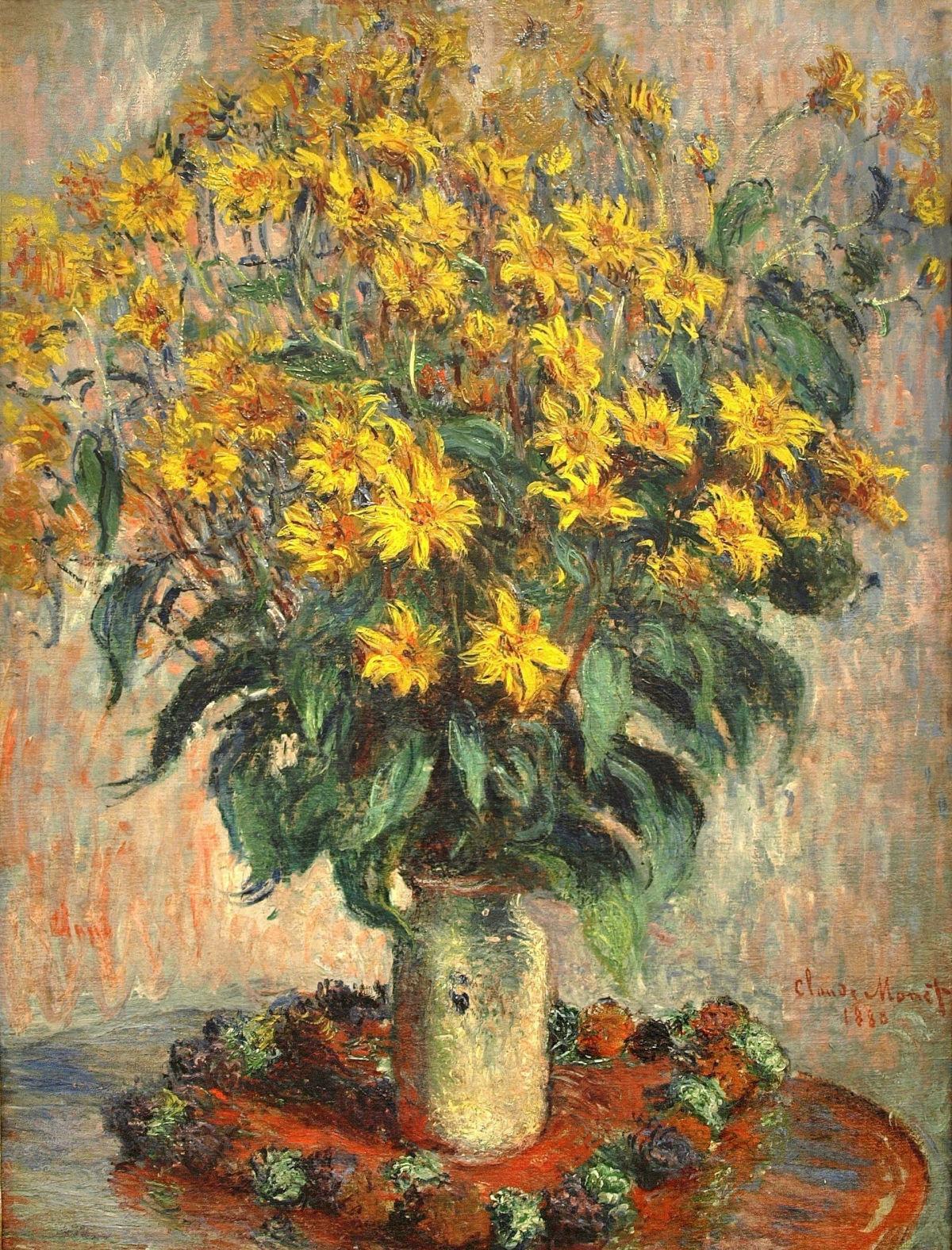 Художник Клод Моне Claude Monet картина Jerusalem Artichokes краски природы Альберт Сафиуллин