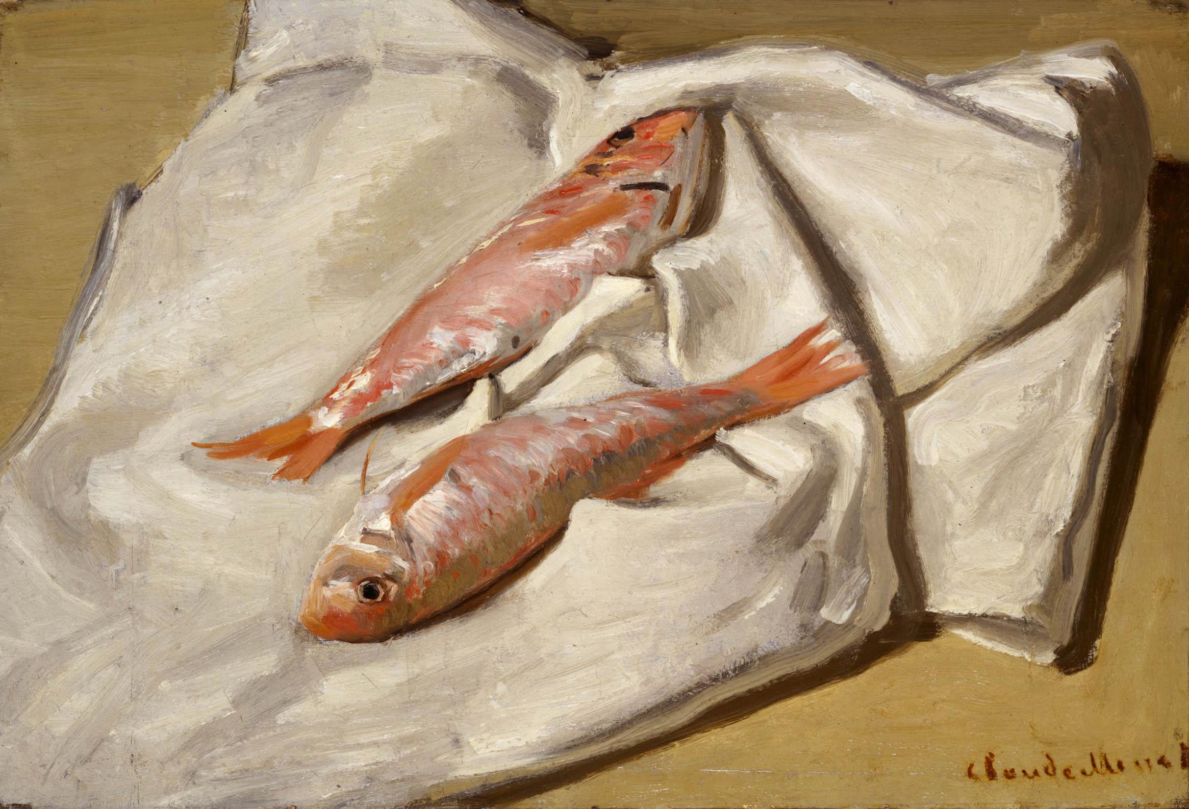 Клод Моне (Claude Monet) - Барабулька (Red Mullets), Harvard Art Museum