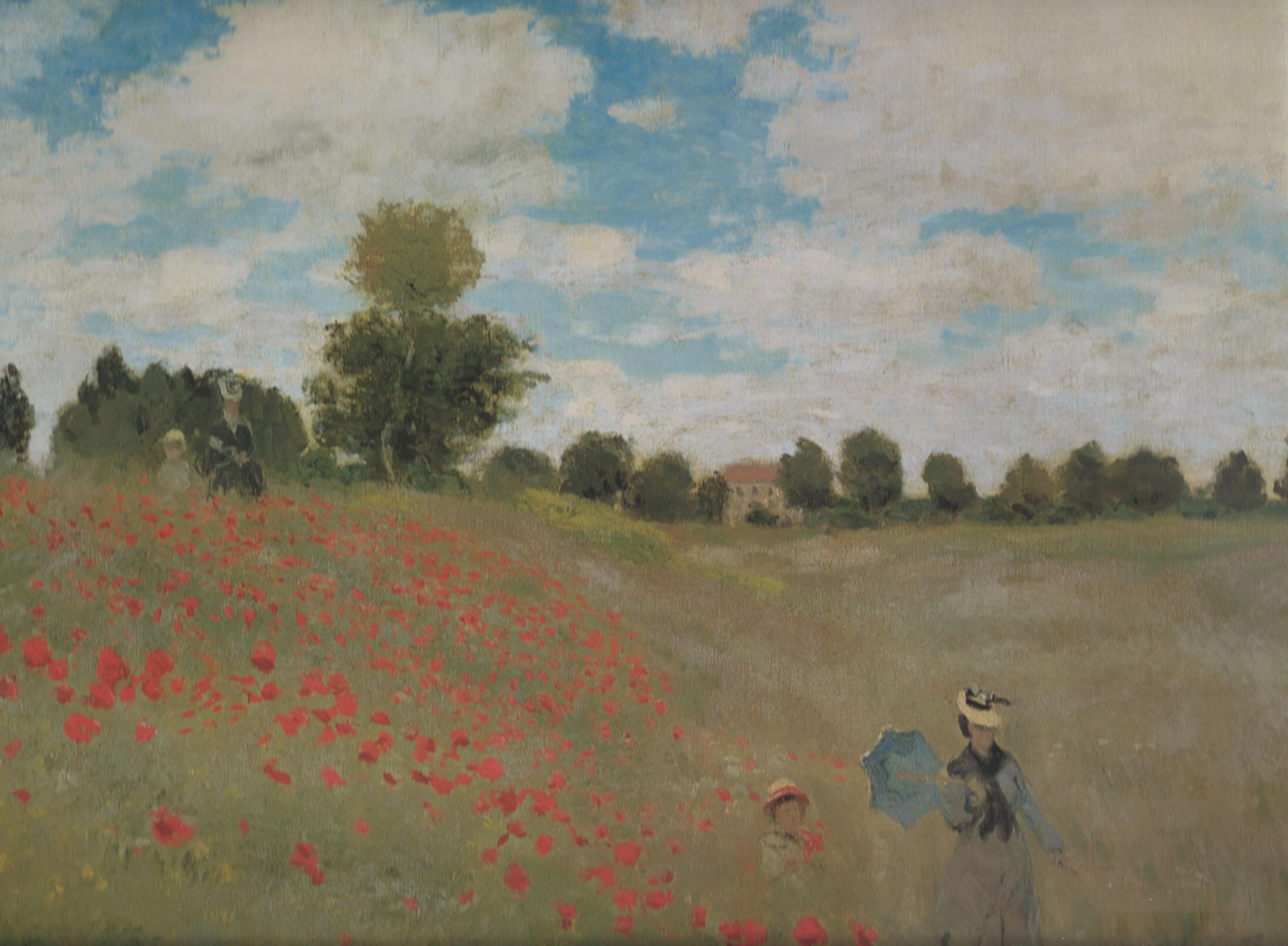 Художник Моне Claude Monet картина Маки в окрестностях Аржантёя Coquelicots пейзажи природы Альберт Сафиуллин