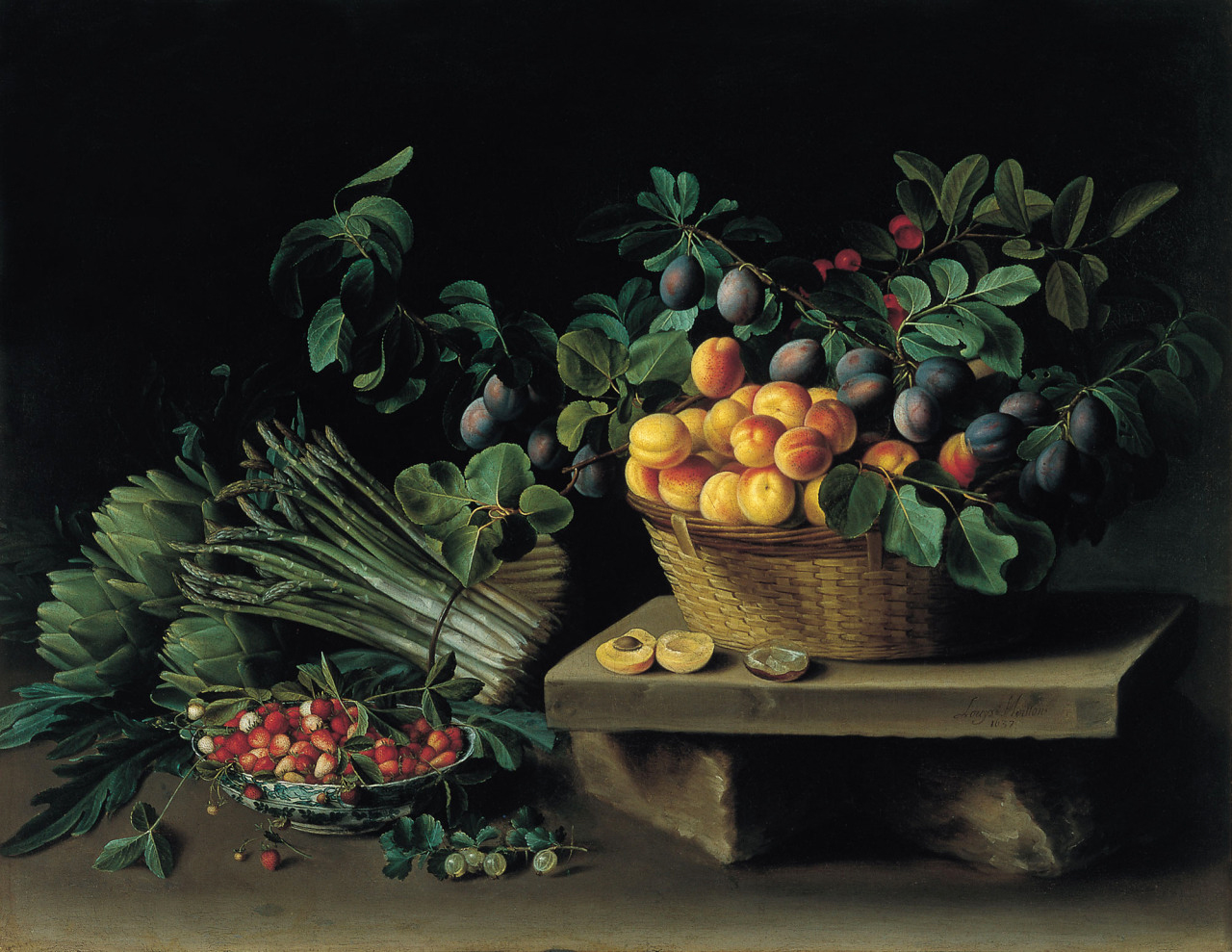 Художник Louise Moillon Натюрморт с фруктами краски природы Альберт Сафиуллин
