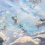 Пейзажи природы Небо над Римом в январе холм Эсквилин пастель рисунок Альберт Сафиуллин