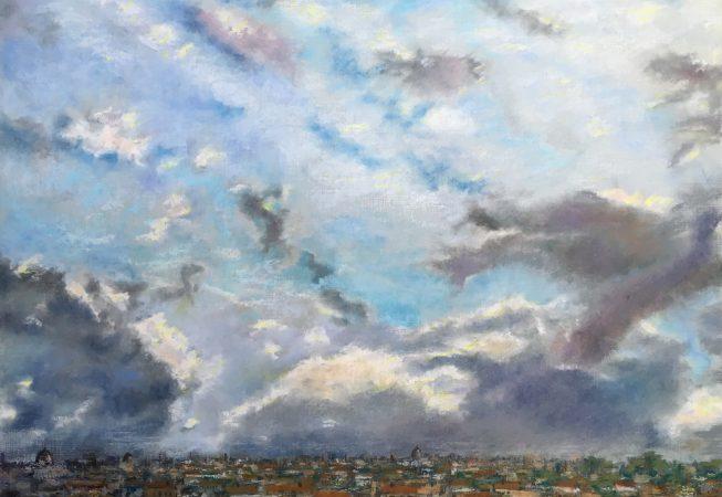 Небо над Римом в январе. Вид с холма Эсквилин