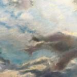 Альберт Сафиуллин пейзажи природы Небо над Римом в январе пастель рисунок