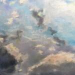 Пейзажи природы Небо над Римом в январе рисунок масляная пастель Альберт Сафиуллин