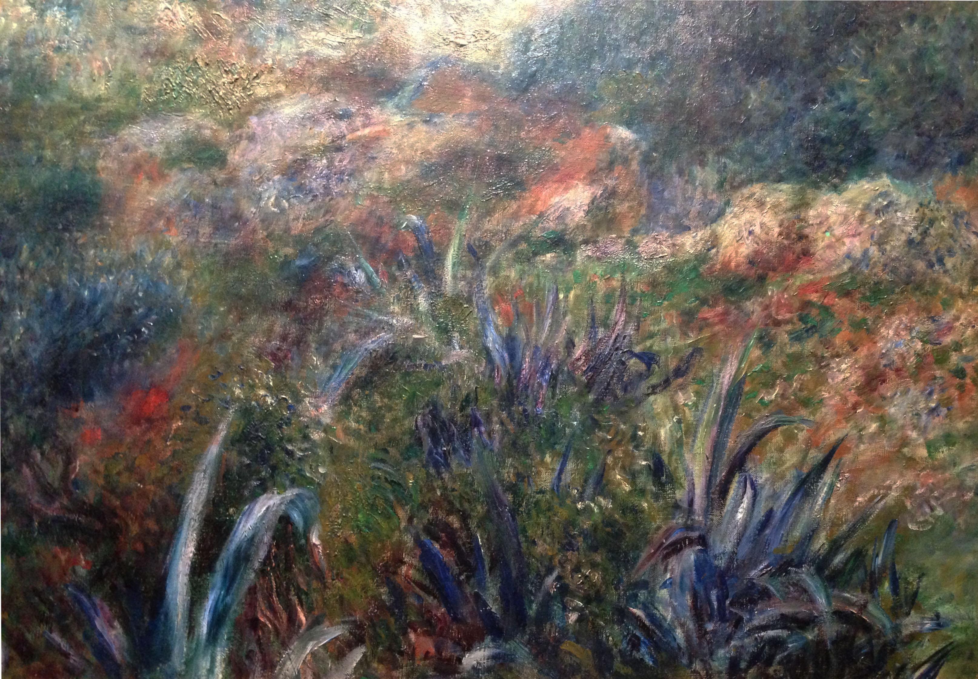 Художник Ренуар Renoir картина Алжирский пейзаж Овраг дикарки Paysage algérien le ravin de la femme sauvage пейзажи природы Альберт Сафиуллин