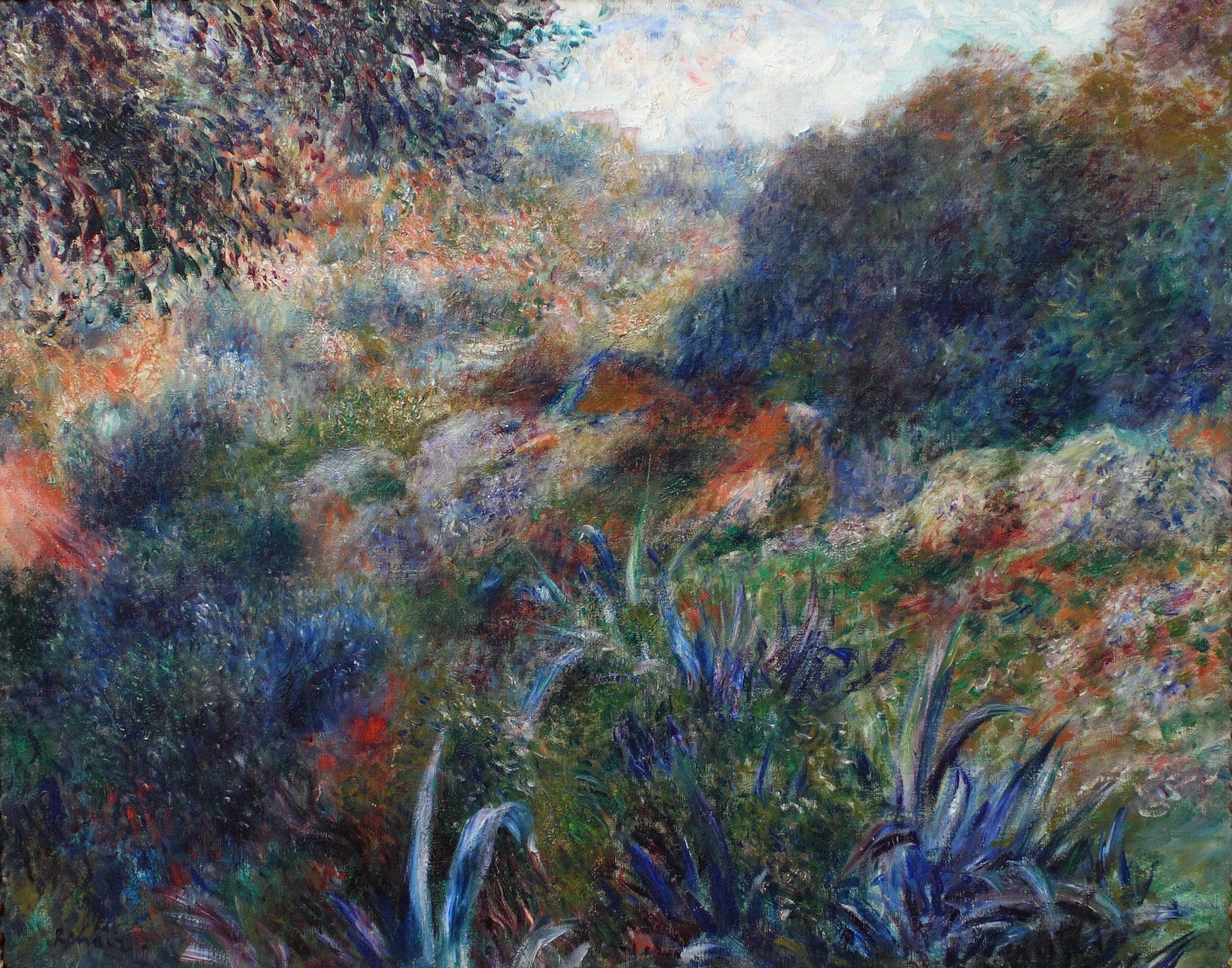 Художник Ренуар Renoir картина Алжирский пейзаж Овраг дикарки пейзажи природы Альберт Сафиуллин