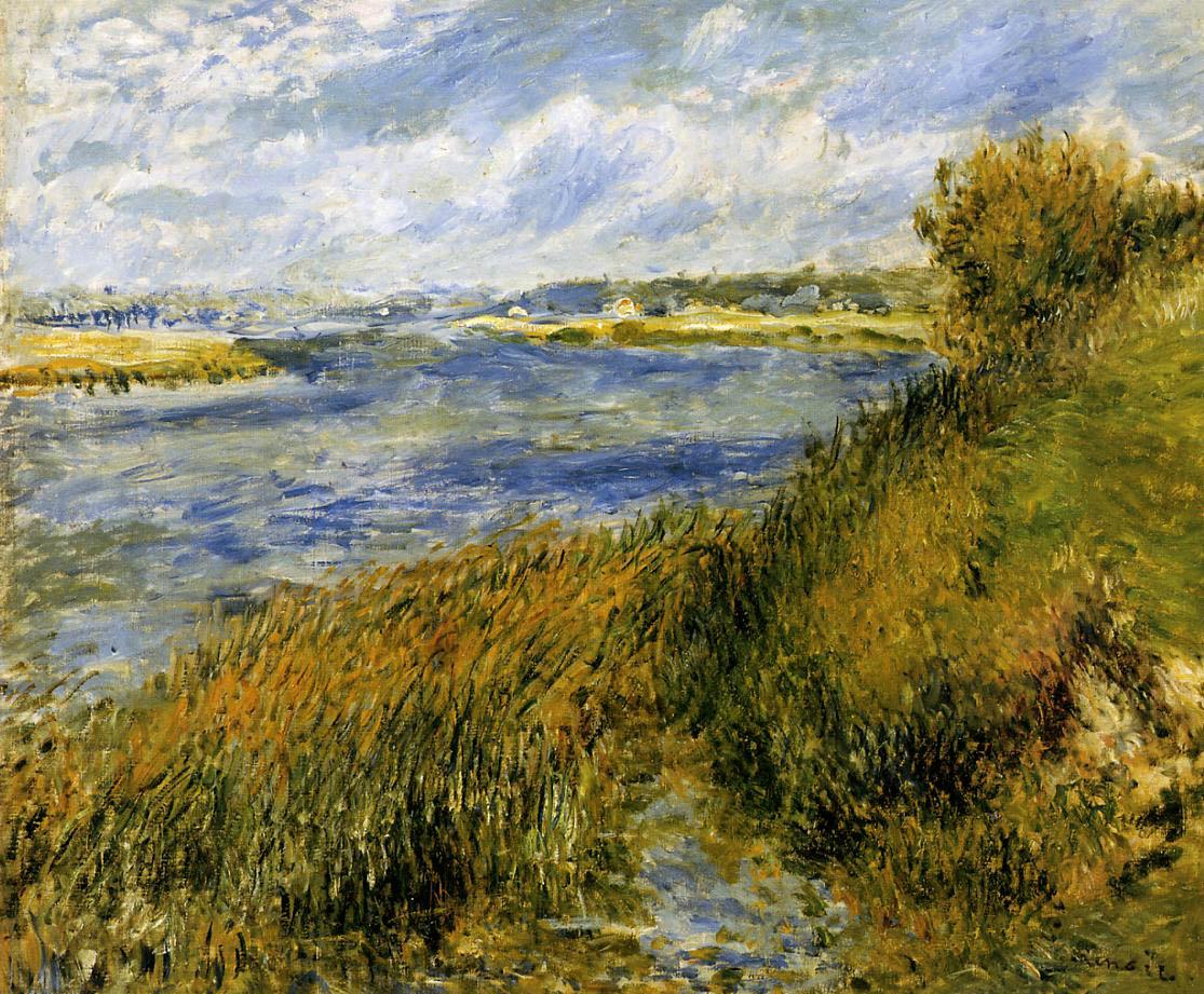 Художник Ренуар Renoir La Seine à Champrosay пейзажи природы Альберт Сафиуллин