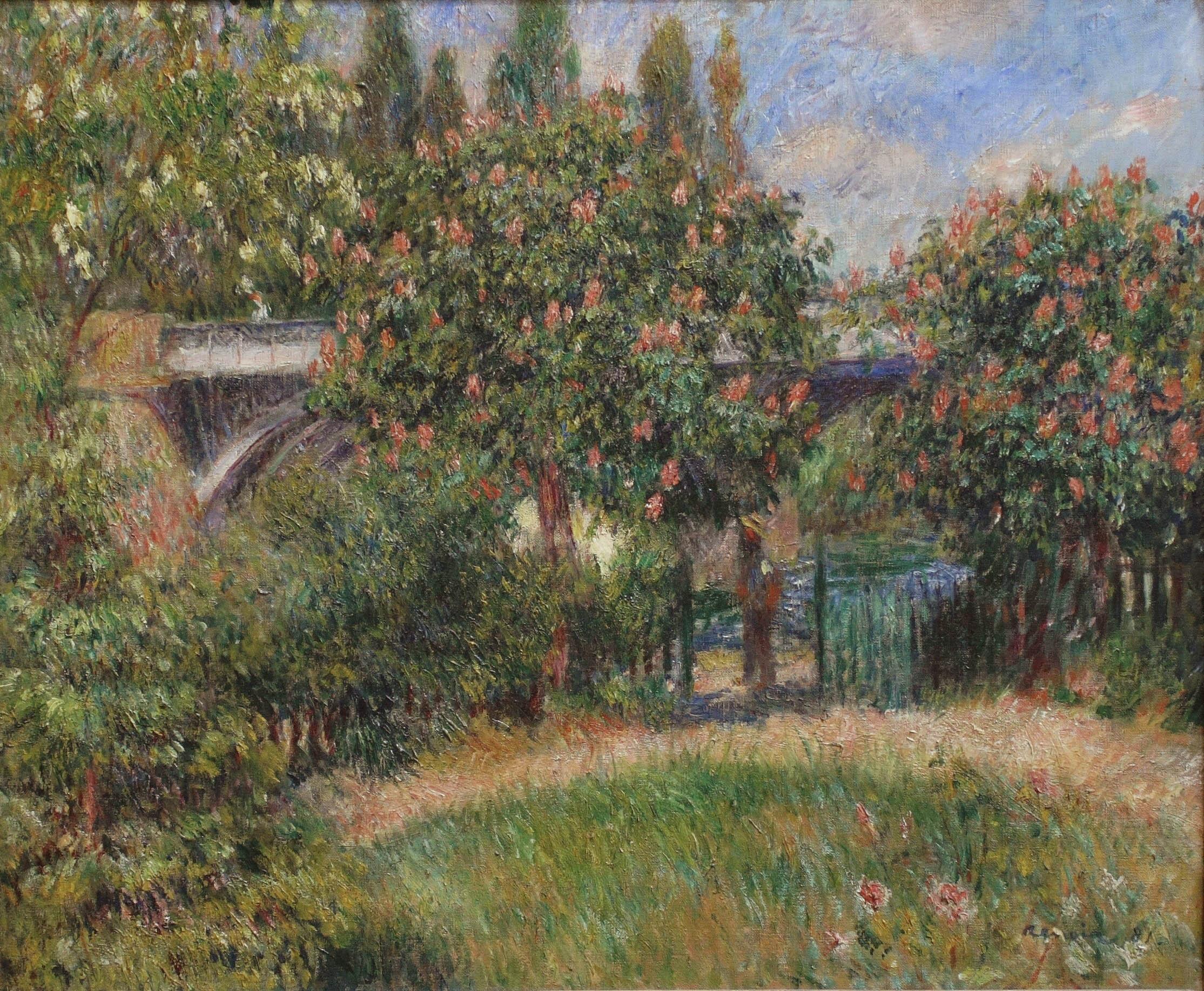 Художник Ренуар Renoir Pont du chemin de fer à Chatou пейзажи природы Альберт Сафиуллин