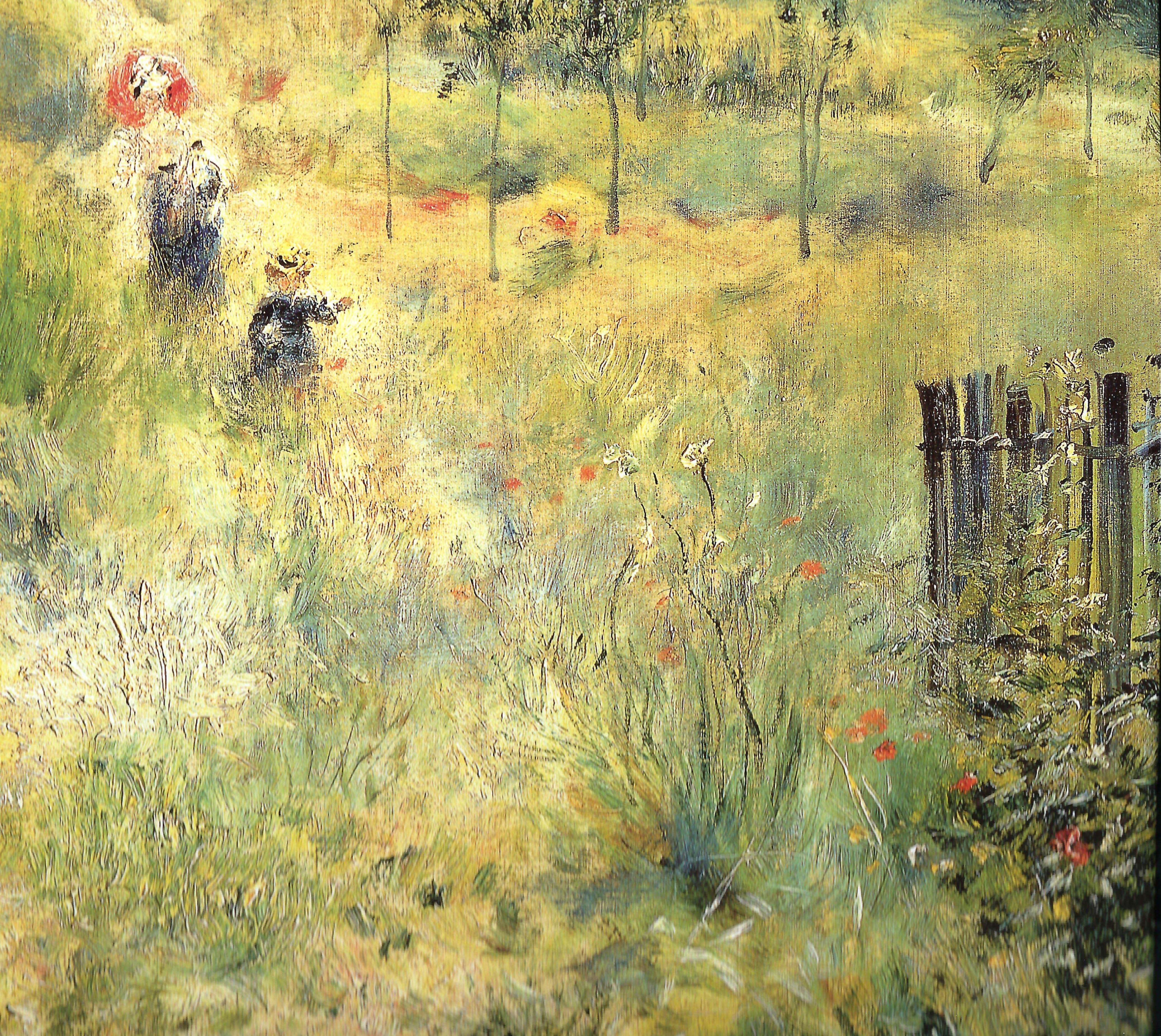 Художник Ренуар Renoir Тропинка в высокой траве Chemin montant dans les hautes herbes пейзажи природы Альберт Сафиуллин