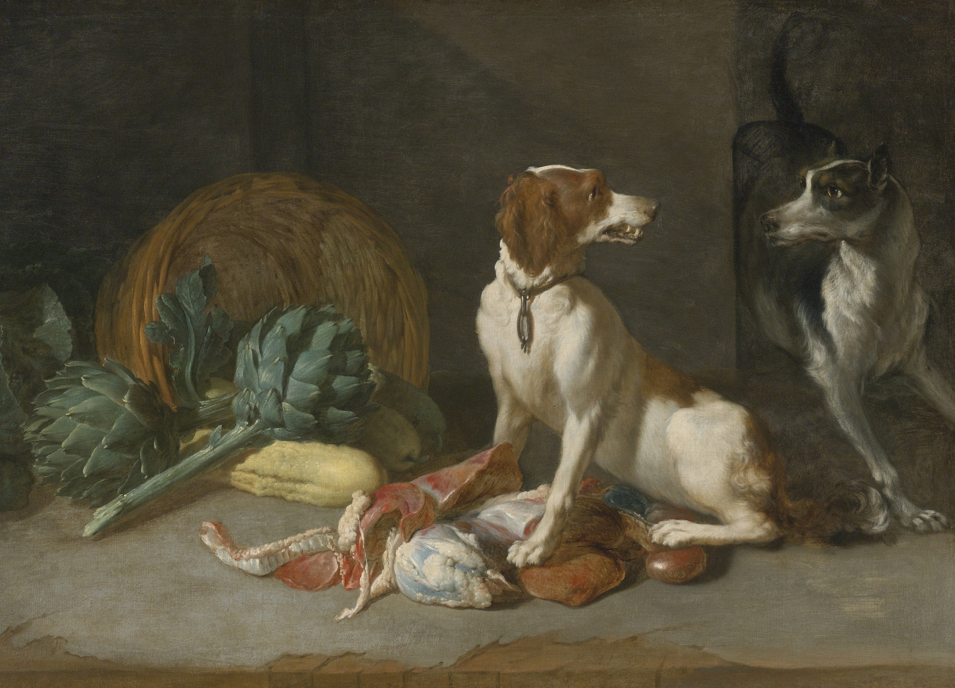 Художник Pieter van Boucle Two Hounds with Artichokes краски природы Альберт Сафиуллин