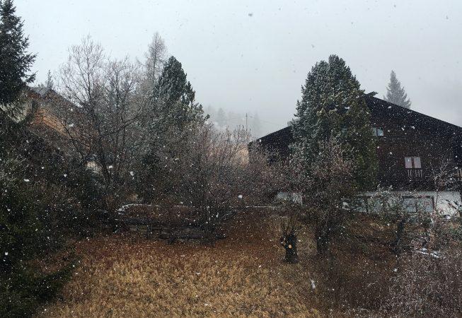 Санта Кристина (Доломиты) - снегопад