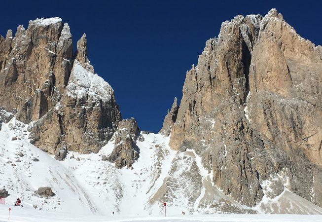 Зубы Сассолунго - Доломитовые Альпы в феврале