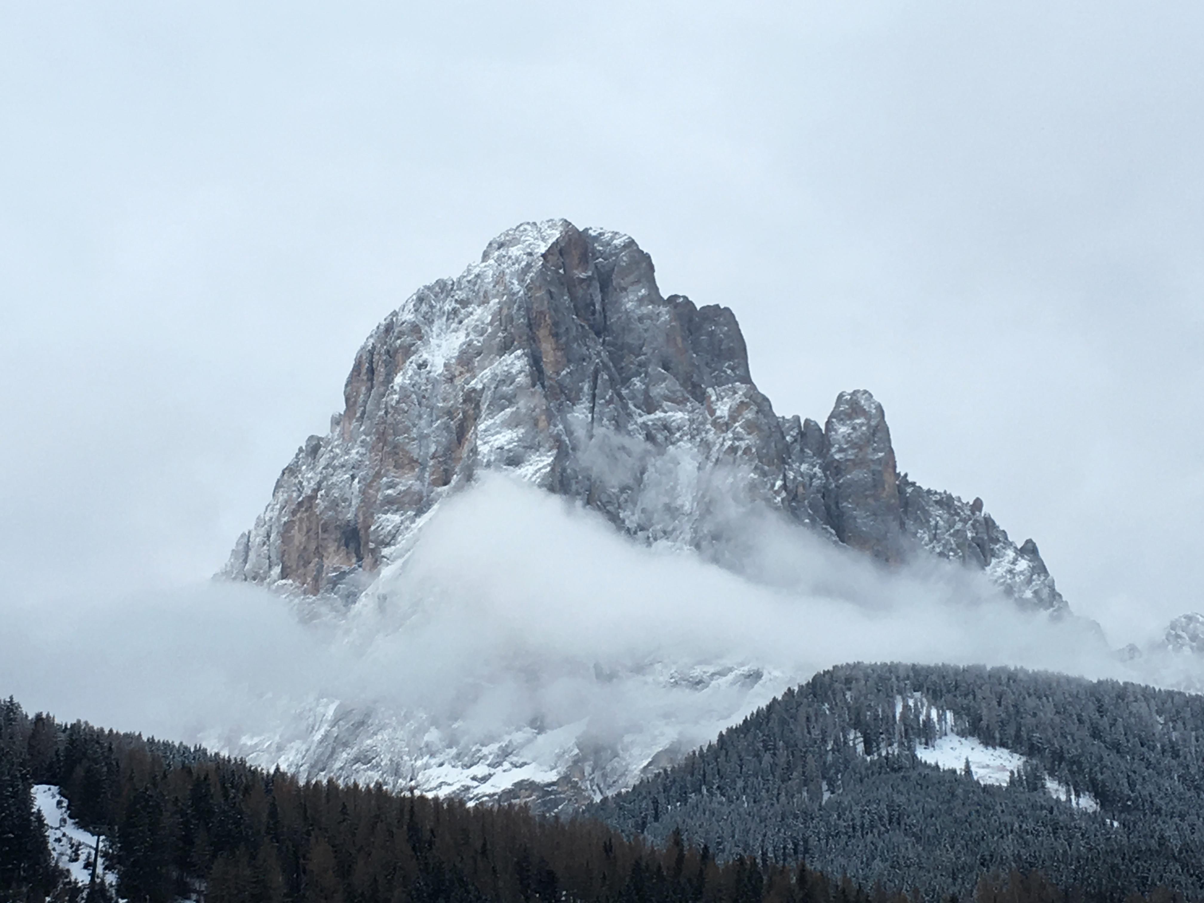 Сассолунго Sassolungo Доломиты горный пейзаж Альберт Сафиуллин