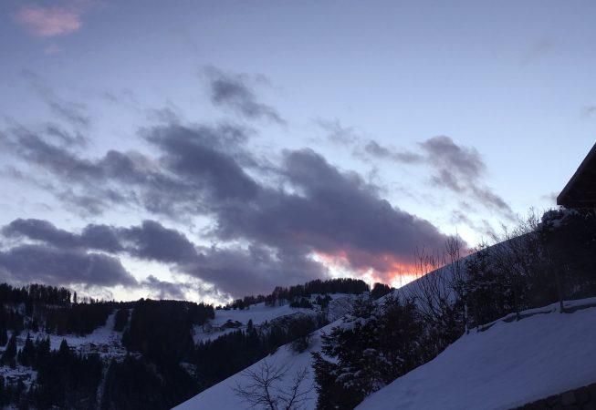 Санта Кристина (Вальгардена, Доломиты)  - закат  в феврале