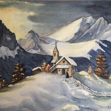 Альберт Деметц (Alberto Demetz) — горы, лыжи, акварель