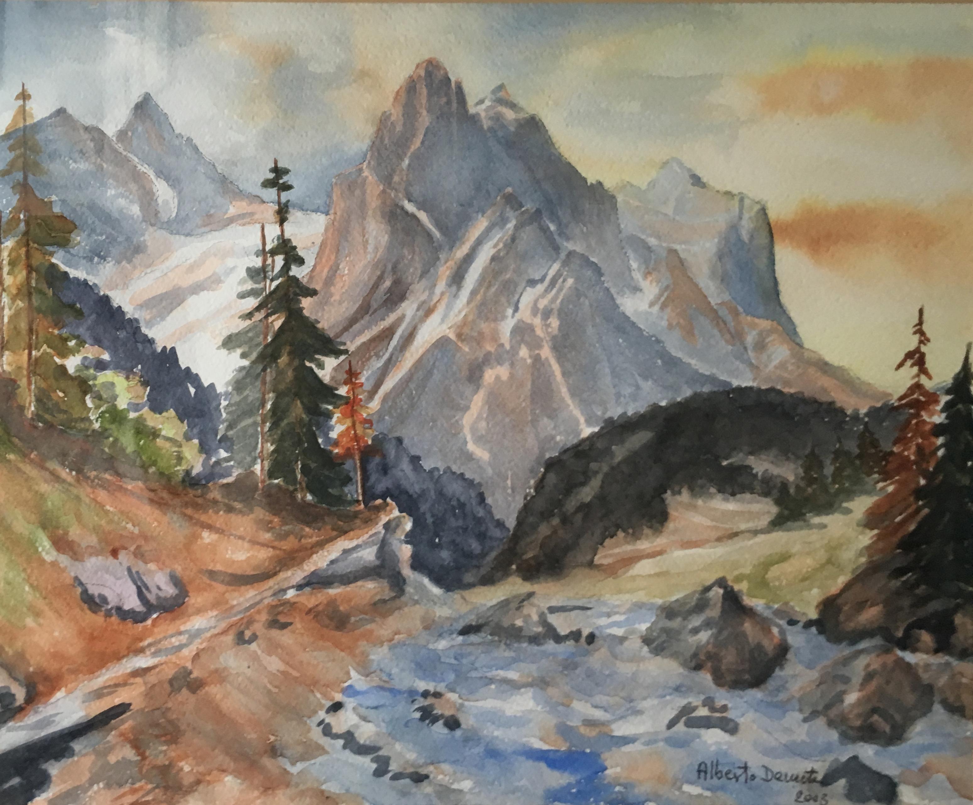 Художник Альберт Деметц Alberto Demetz Доломитовые Альпы Италия пейзажи природы Альберт Сафиуллин