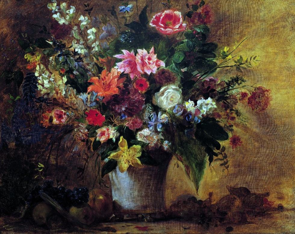 Художник Эжен Делакруа Delacroix картина Цветы и фрукты Альберт Сафиуллин