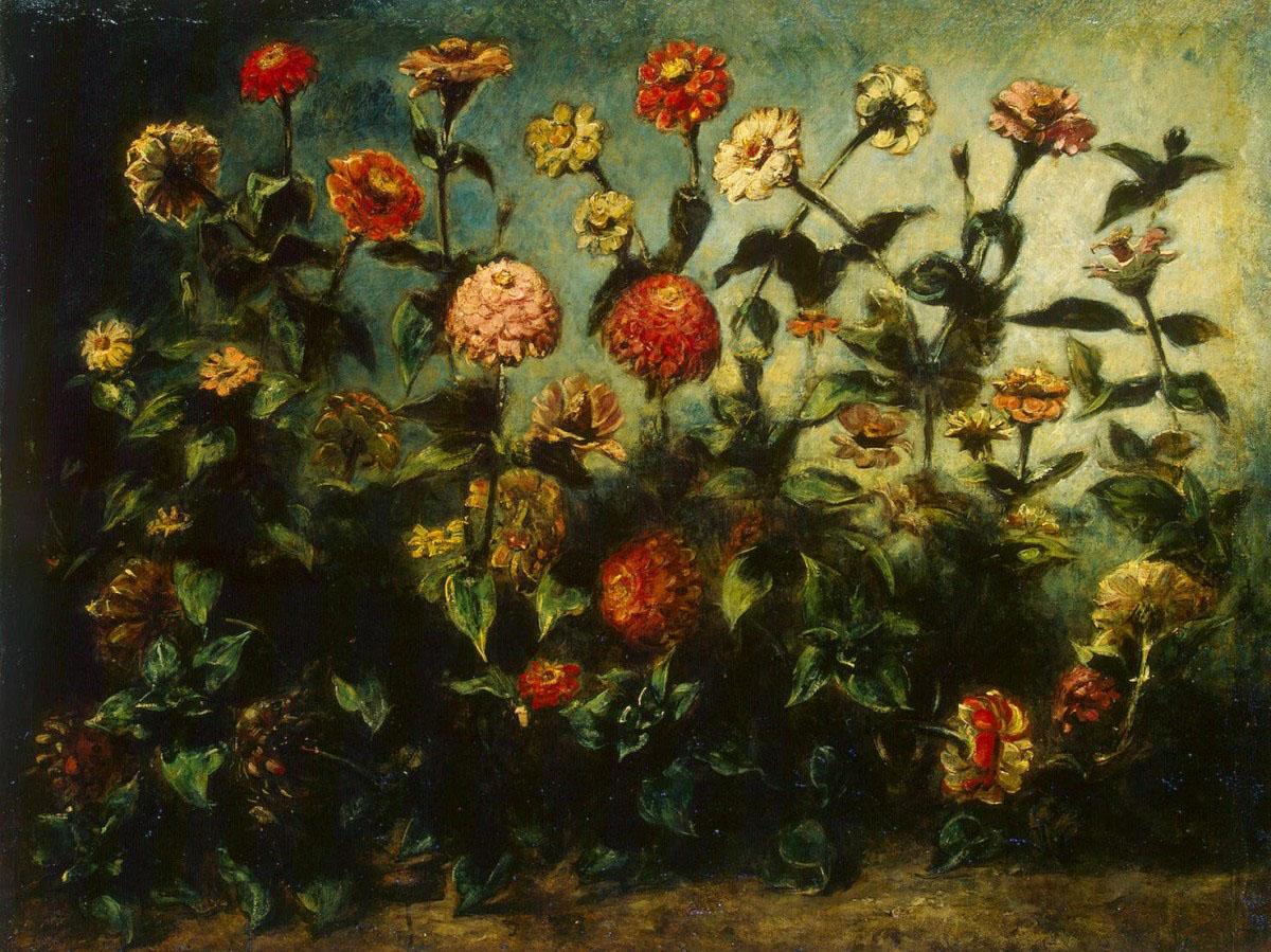 Художник Делакруа Delacroix картина цветы Flowers краски природы Альберт Сафиуллин