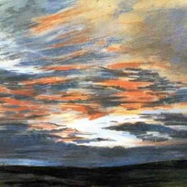 Эжен Делакруа — зарисовки неба