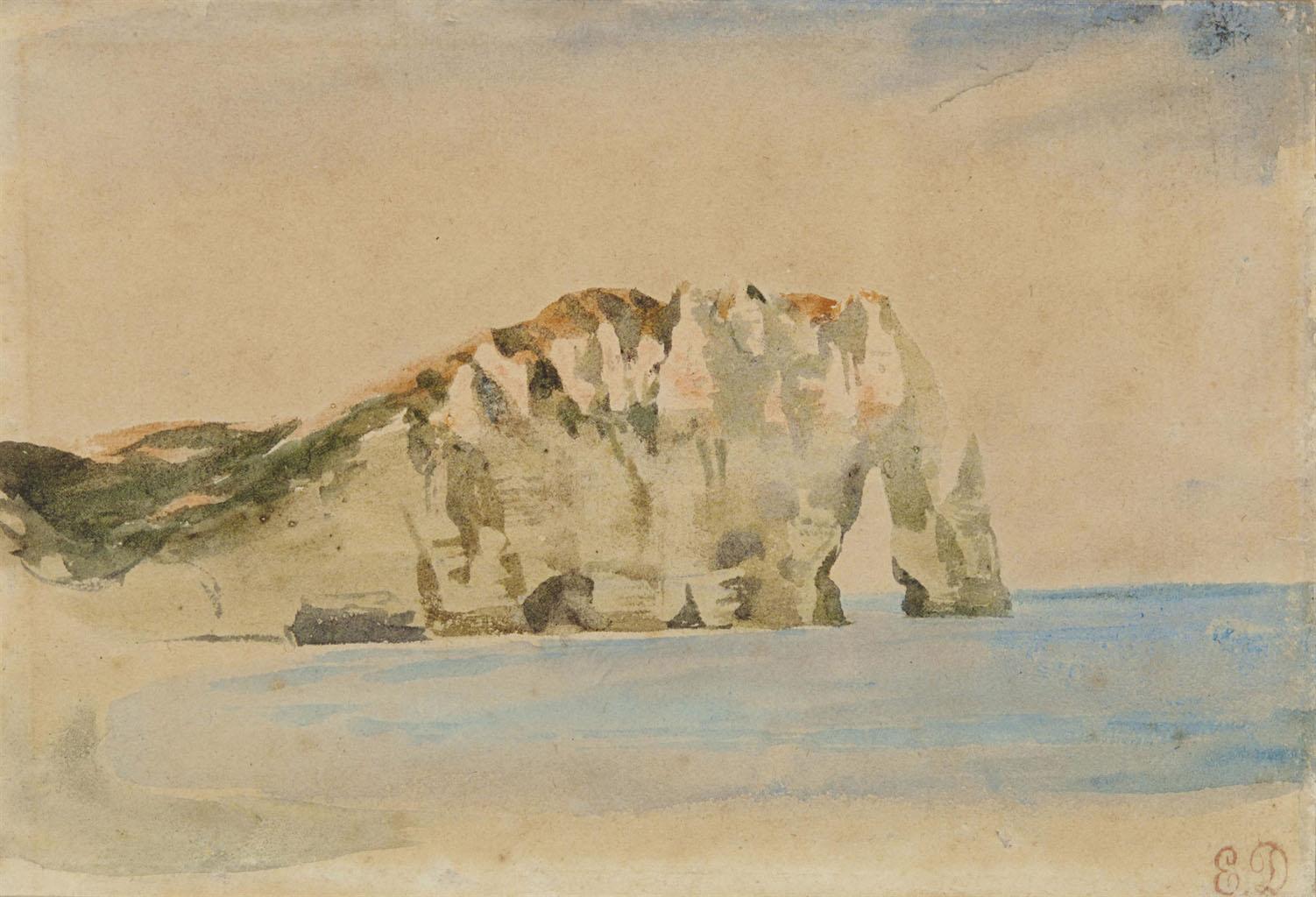 Художник Делакруа Delacroix акварель d'Etretat морские пейзажи Альберт Сафиуллин