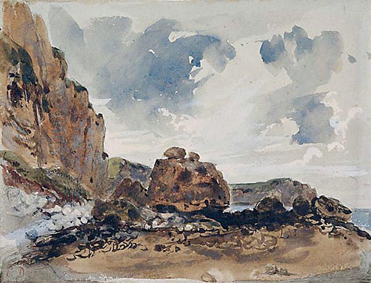Делакруа Delacroix акварель Cliffs морской пейзаж Альберт Сафиуллин