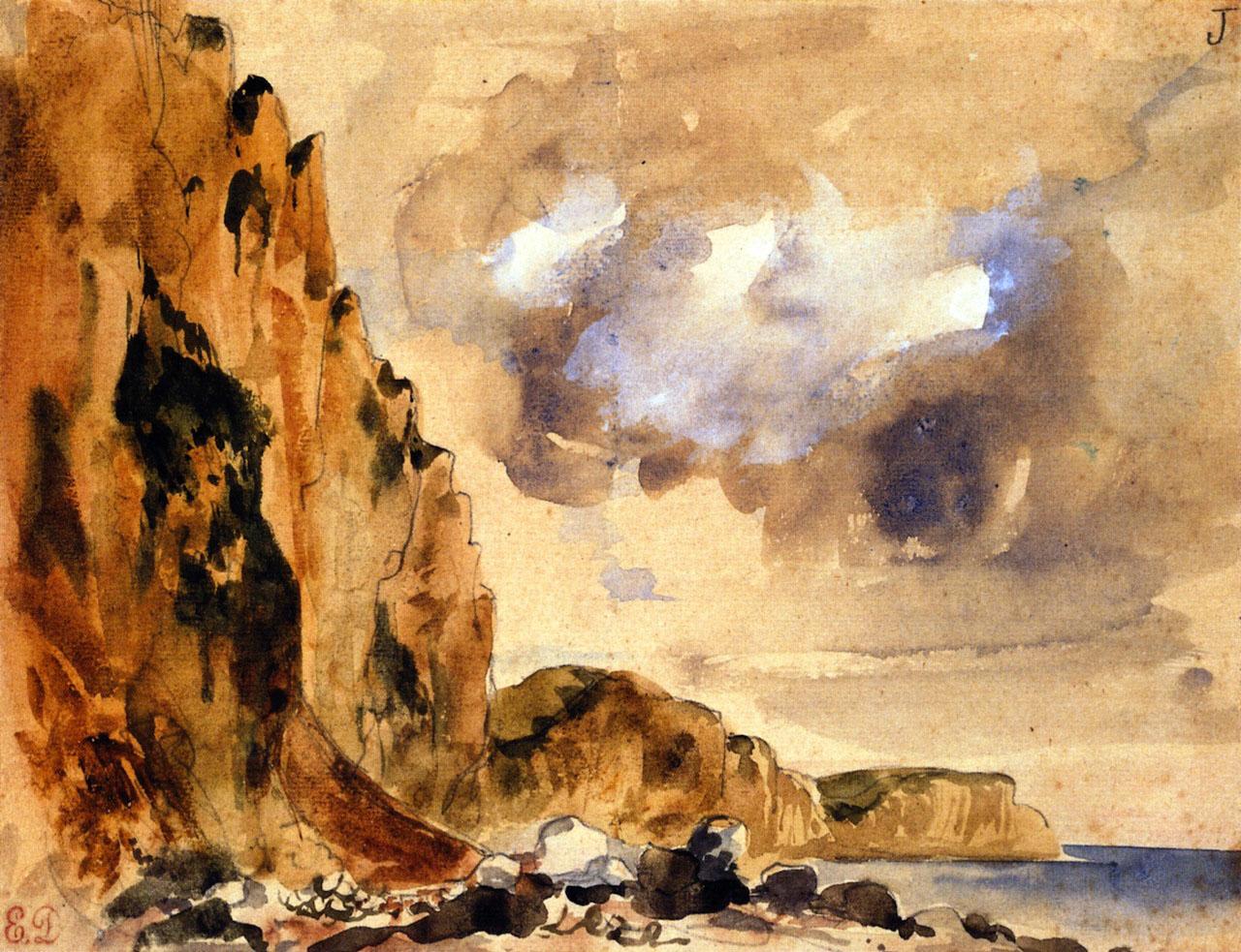 Делакруа Delacroix Cliffs in Normandy морские пейзажи Альберт Сафиуллин