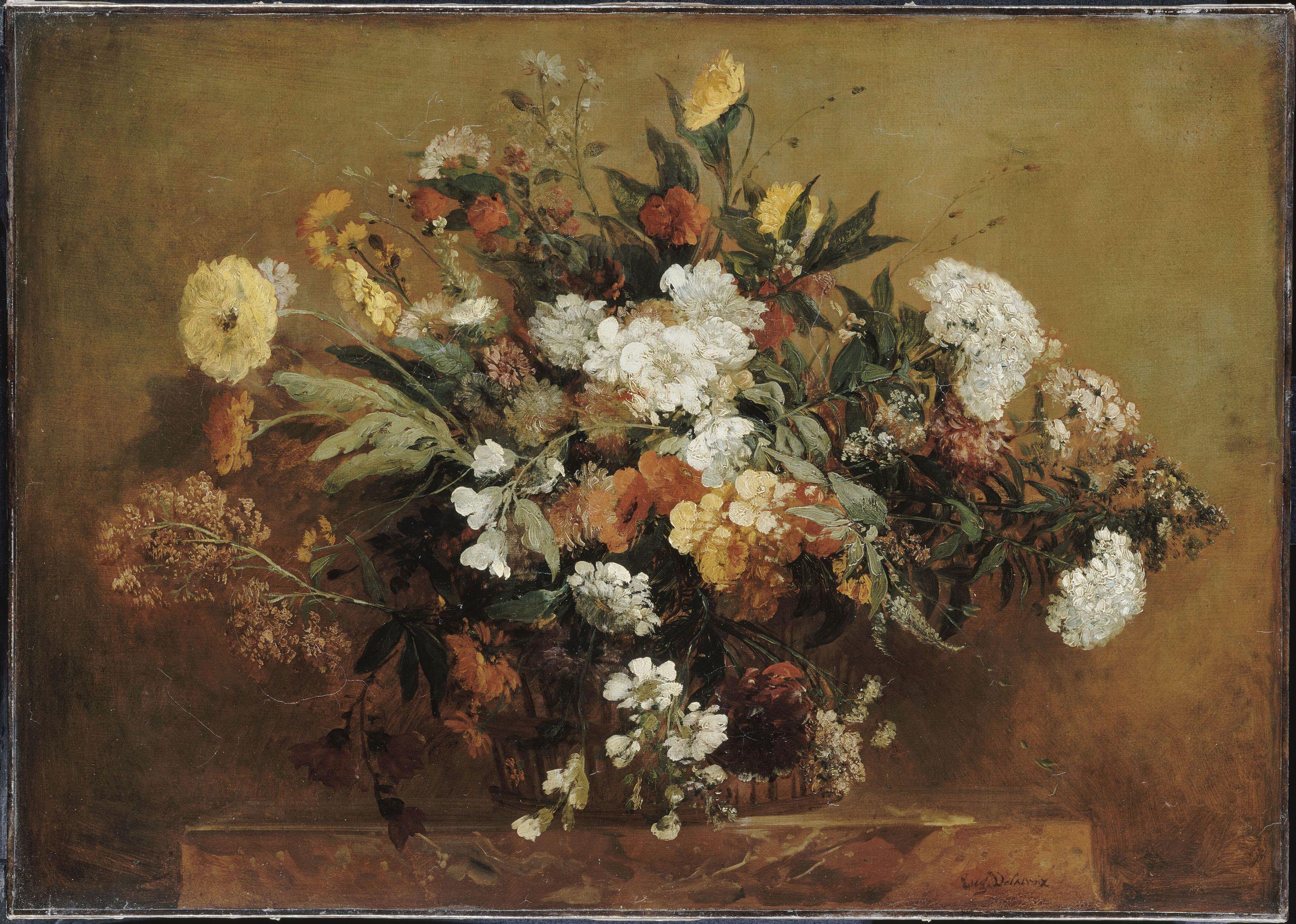 Делакруа Delacroix картина корзина цветов basket of Flowers Альберт Сафиуллин