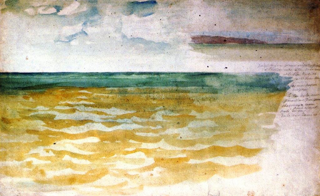 Делакруа Delacroix акварель Seascape морские пейзажи Альберт Сафиуллин