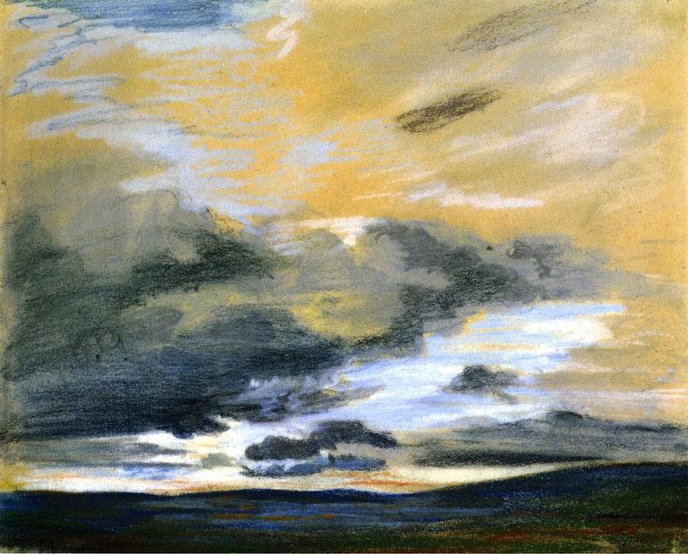 Делакруа Delacroix рисунок Небо Sky at Dusk пейзажи природы Альберт Сафиуллин